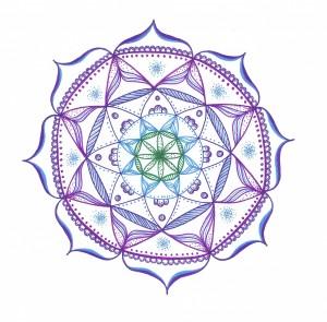 purple lace mandala