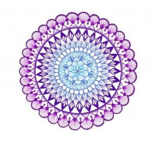 purple shells mandala