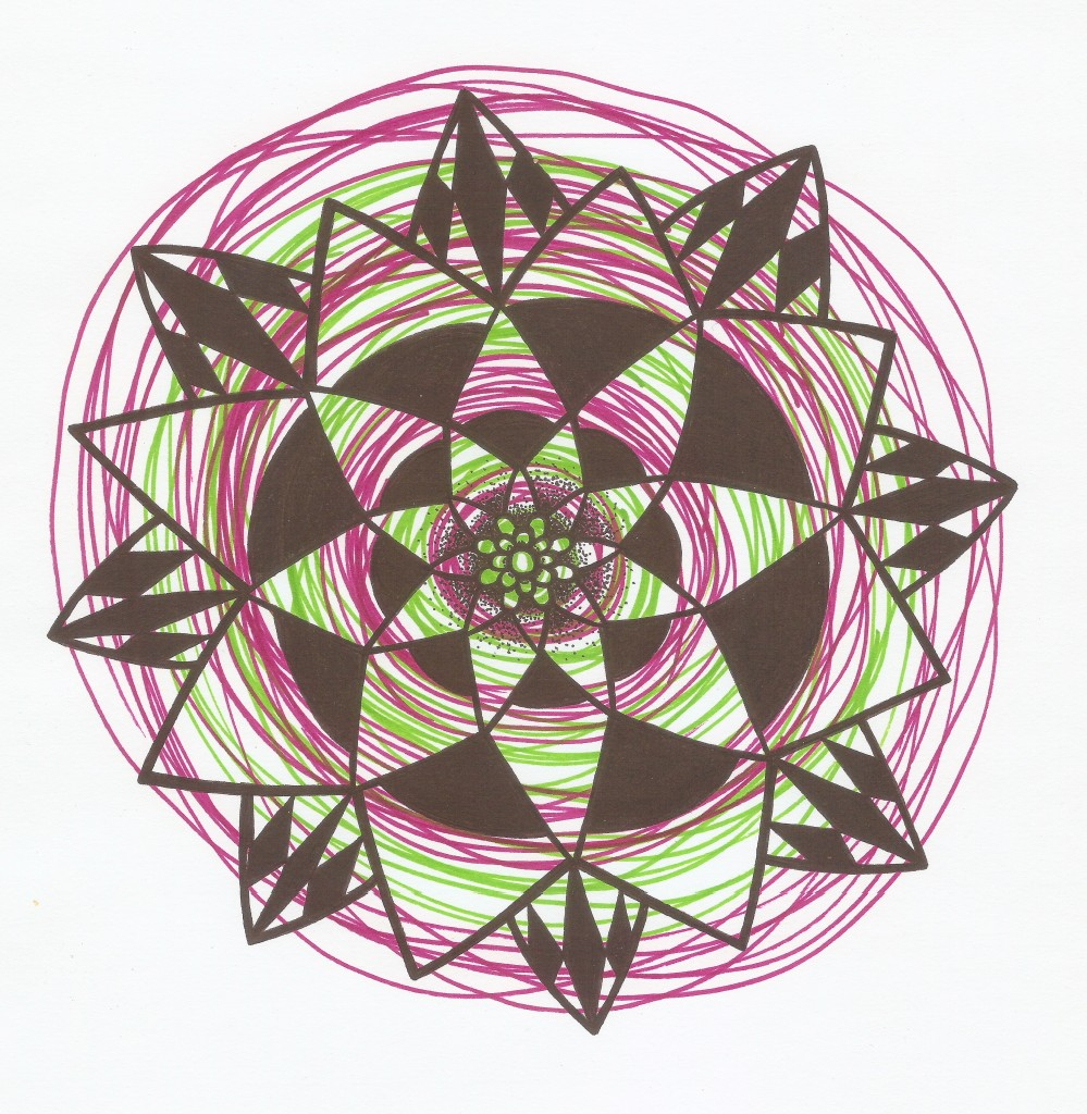 wildberry green and berry mandala