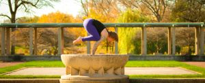 yoga pose arm balance named Crow pose