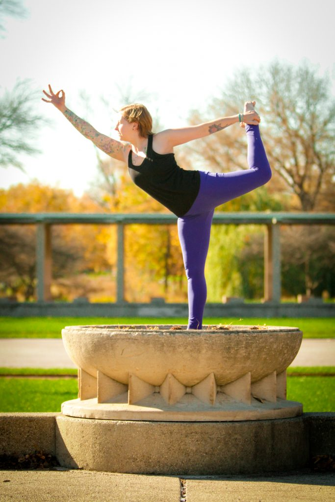 yoga posture called Lord of the Dance Pose