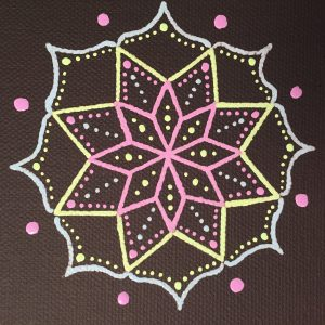 chalkboard mini-canvas magnet mandala