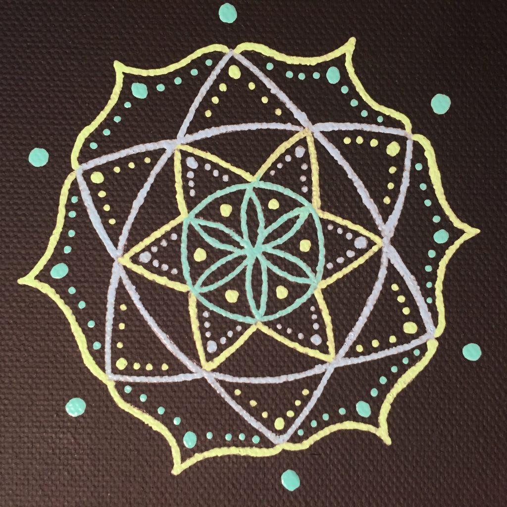 mini-canvas magnet mandala